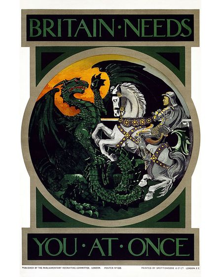 WWI recruitment poster created by theParliamentary Recruiting Committee in 1915