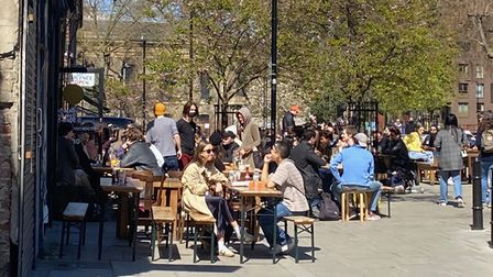 Hackney people ventured out on the first weekend since outdoor areas of pubsreopened on April 12.