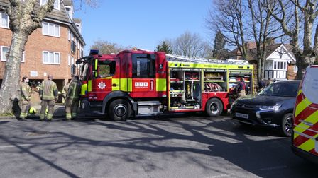 Fire crews rescued a man from a flat in Brondesbury Park