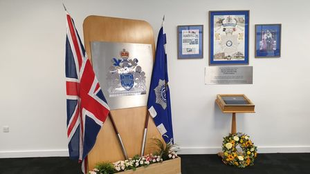 The PC Walters conference room in Ilford Police Station