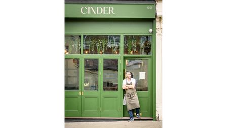 Chef and owner Jake Finn outside Cinder