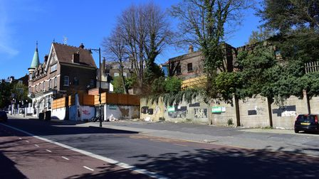 Where the new houses would stand in Highgate Hill