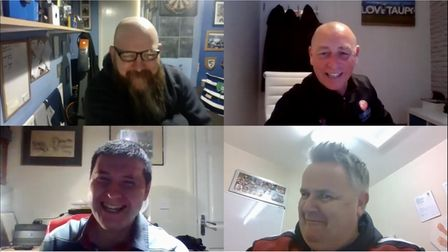 Neil Tucker, Paul Jenkins and Stuart Henley during the zoom meeting