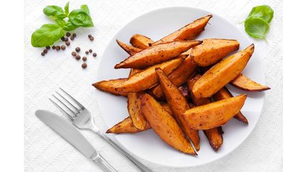 Baked, instead of fried, sweet potato provide slow-release energy and can help to regulate blood sug