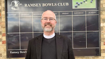 The Reverend Iain Osborne is one of the new members to have joined Ramsey Bowls Club