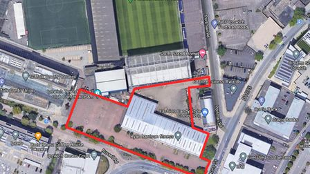 The land which has recently been acquired by the Burney Group in Russell Road, Ipswich