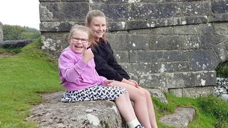Leah Martin with her sister Jasmine, 13
