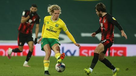 Norwich City attacker Todd Cantwell complained of a problem with his adductor after the Cherries' setback