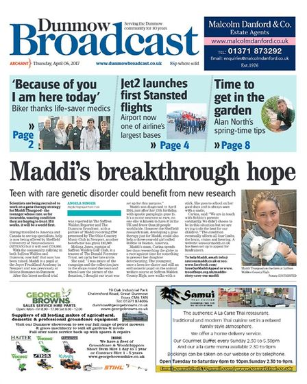From 2017, Dunmow Broadcast front page April 6, 2017
