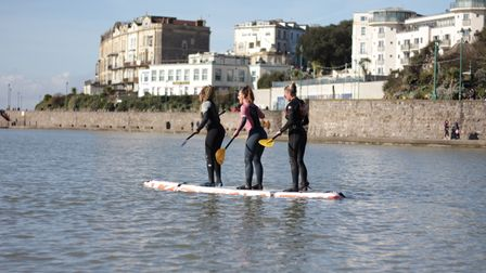 Pictures: People enjoy a day on the waves in Weston.