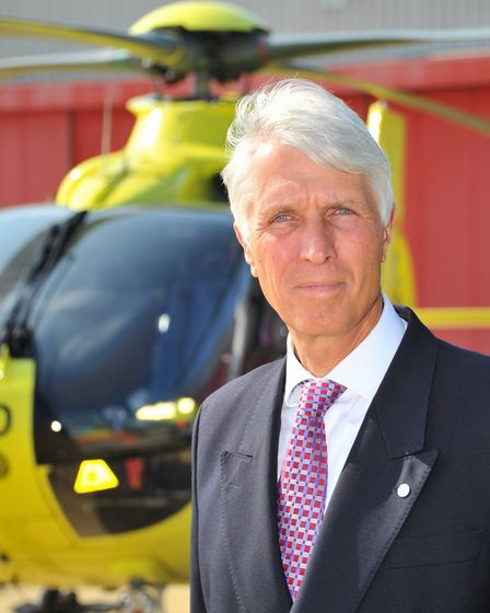 Patrick Peal, who was recently confirmed as chief executive of the East Anglian Air Ambulance