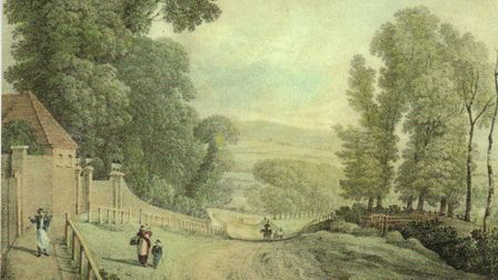 View down Muswell Hill. TM Baynes, 1822