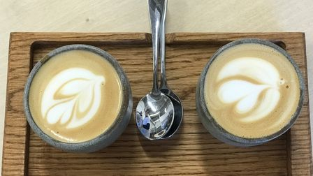 Coffees fromFrå.kost, which has just opened in St Augustines Gate in Norwich.