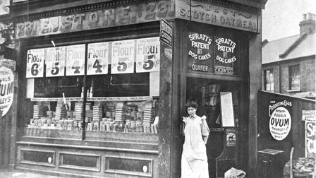 A shop in Barking Rd in about 1895