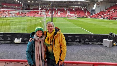 Amanda and Michael Brigham, at the last Norwich City game they attended together