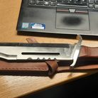 Image of knife recently seized or surrendered in the county.