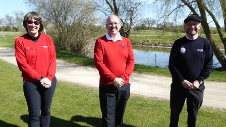 The new captains at Heydon Grange Golf Club: Deborah Bryan, Gavin Thompson and Steve Board.