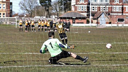 Goalkeeper failing to save a penalty