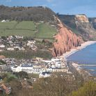 View across Sidmouth seafront