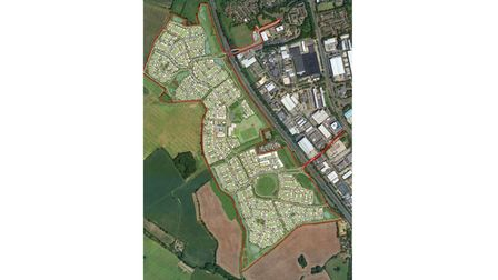 Stevenage development on land west of town