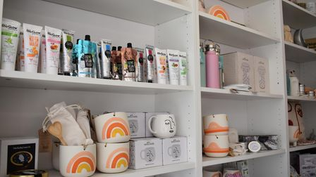 The shop sells a selection of homeware, as well as hair products