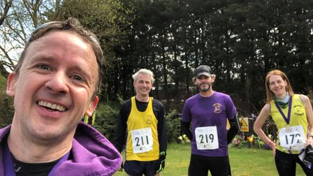 Alistair Cooke, Toby Lumsden, David Martin and Kate Holden of Saffron Striders