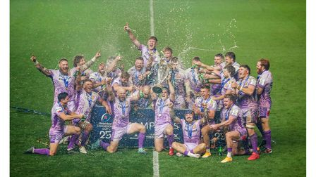 Exeter Chiefs celebrating their victory in the Heineken Champions Cup in 2020