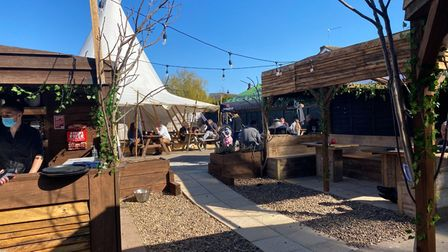 The tipi at the Jolly Farmers Ormesby