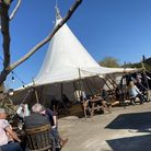 The tipi at The Jolly Farmers pub