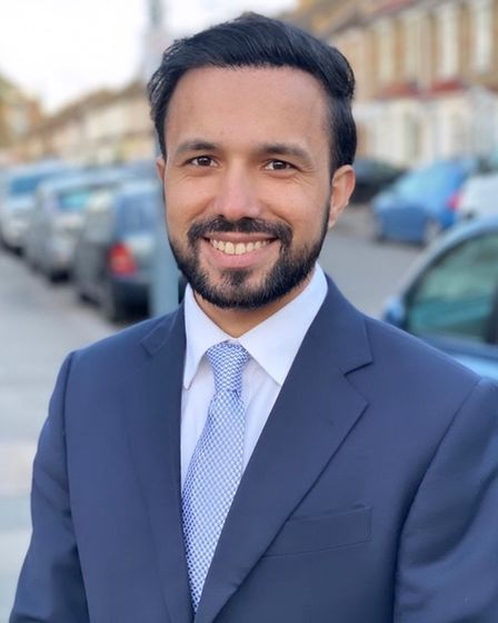 HasnainAhmed, Conservative and Unionist candidate in Loxford ward.