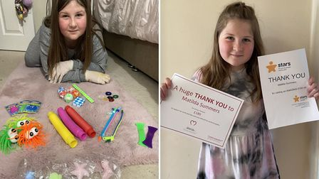 Nine-year-old Matilda Summers from Wisbech sold some of her dolls to raise money for charity