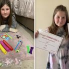 Nine-year-old Matilda Summersfrom Wisbechsold some of her dolls to raise money for charity