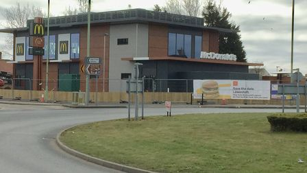 The site of the new McDonald's in Lowestoft.