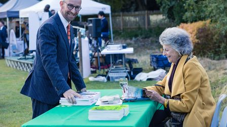 """John Weston with """"How the Heath was saved"""" author Helen Lawrence. Picture: Diana von R Photography"""