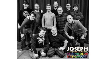 Joseph and his brothers. The role of Joseph will be played by Jason Ames (centre)