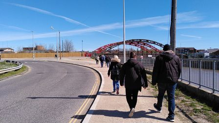People walking near Great Yarmouth train station