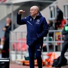 Queens Park Rangers manager Mark Warburton gestures on the touchline during the Sky Bet Championship