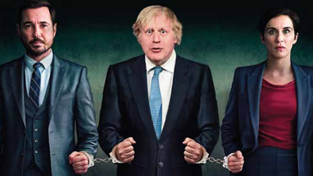Boris Johnson meets AC-12 in a Line of Duty mock-up for The New European
