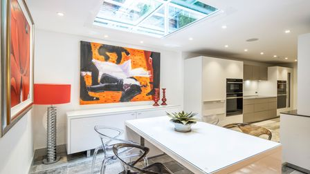 Living area, family home, Hampstead