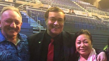 American boxing commentator Bob Sheridan found out he had a son earlier this year