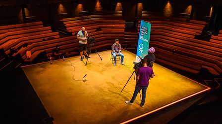 Thrive LDN invited young musicians andpoets to perform at the Young Vic