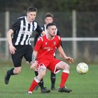 Sam James in action for Baldock Town