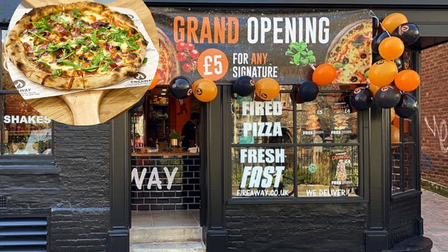 Fireaway Pizza has opened in St Benedicts Street