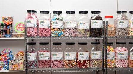 Some of the sweet jars at the new Sweets Reunited shop in Felixstowe