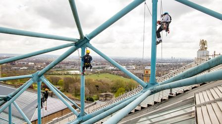 The works were the first time the roof of the Muswell Hill landmark had been painted in 40 years