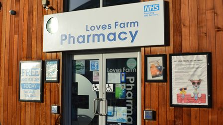 Free Covid testing kits are available at the Love's Farm Pharmacy.