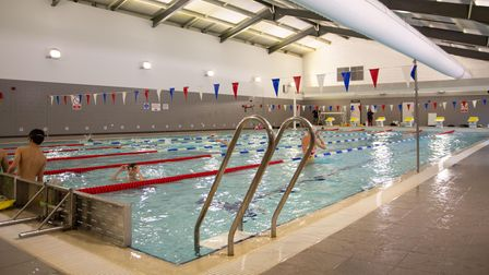 A general view of the refurbished Harpenden Leisure Centre swimming pool