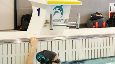 The new Harpenden Swimming Club diving blocks