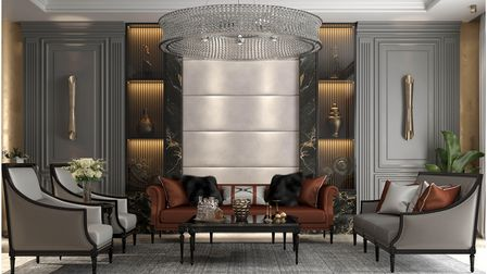Luxurious living room designed by Juliettes Interiors