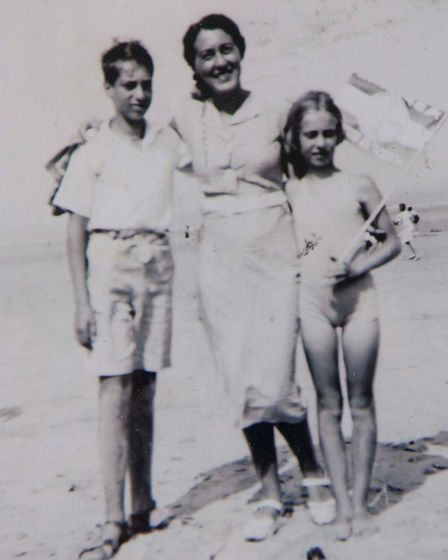 Eva Schloss 82yr old Holocaust survivor & Anne Frank's step-sister,Eva pictured with her brother He